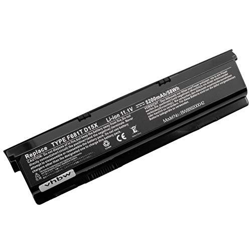 vhbw Li-Ion batería 5200mAh (11.1V) Negro para Ordenador portátil Laptop Notebook DELL...