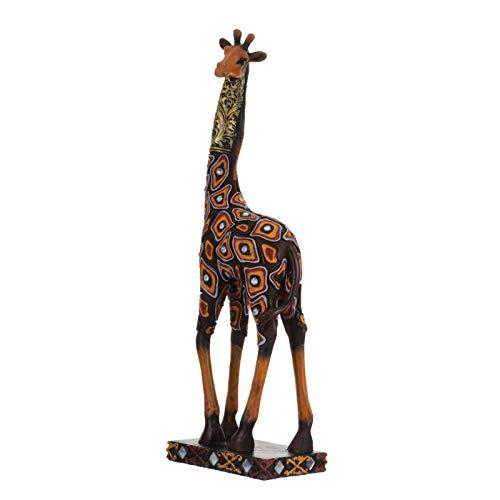 GARNECK Figuras de Jirafa de Resina Decoraciones de Jirafa de Pie Estatua de Animal Juguete Zoológico Safari de La Selva Centro de Mesa Baby Shower Suministros de Fiesta de Cumpleaños