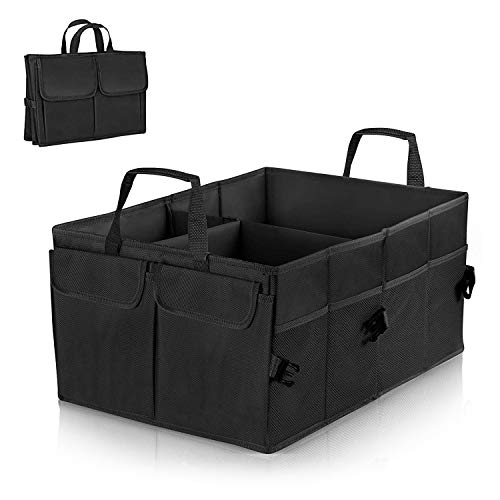 Linkax Kofferraumtasche Auto Kofferraum Organizer Faltbare Autotasche Aufbewahrung Taschen Klappbox Kofferraumbox Faltbox Organizer Reise Aufbewahrungstasche für Auto