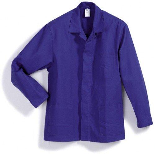 BP 1403-060-13-48/50 Arbeitsjacke, Verdeckte Knopfleiste und Taschen, 300,00 g/m² Reine Baumwolle, Königsblau ,48/50