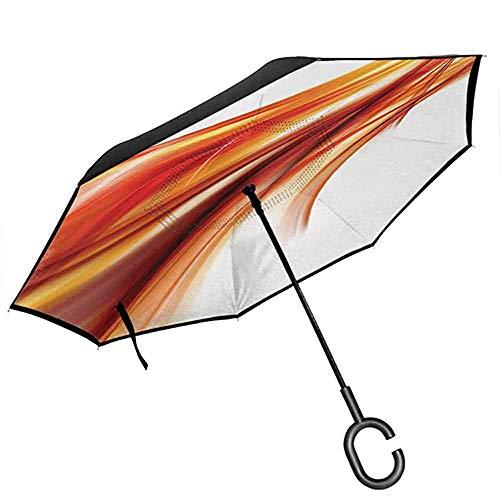 ETGeed Paraguas invertido, diseño Moderno y Fresco con Estampado de...