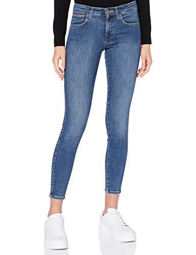 Wrangler Damen Skinny Jeans, Easy Blue, 32W / 30L