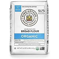12-Pack King Arthur 100% Organic Unbleached Bread Flour