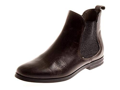 Kimkay Klassische Chelsea Boots Stiefelette Lederschuhe Damen 8384 Graphit EU 40