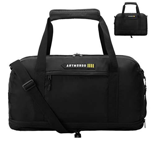 ARTMONDO Bolsa de lona expandible para hombres y mujeres (de 45 L a 60 L), 3 en 1 ligero y plegable bolsa de viaje para equipaje deportivo gimnasio