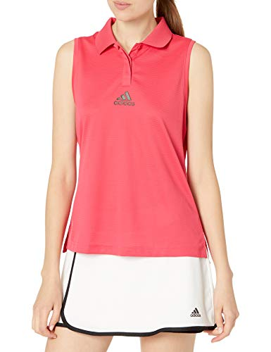 adidas Heat Ready Tennis Match Tank Camisa, Rosa, Small para Mujer