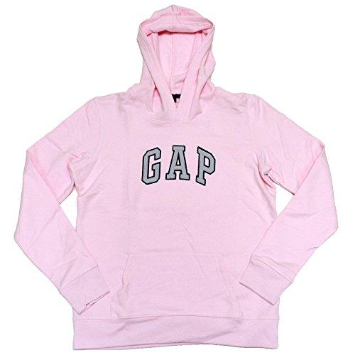 GAP Damen Fleece-Kapuzenpullover mit gewölbtem Logo -  Pink -  X-Klein