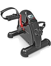 Sportstech DFX50 mini-hometrainer, stoelfiets, mini-bike + fitness-app, beentrainer + armtrainer voor senioren, bewegingstrainer voor thuis en op kantoor, verstelbare pedalen + massagefunctie, voor mannen en vrouwen (DFX50)
