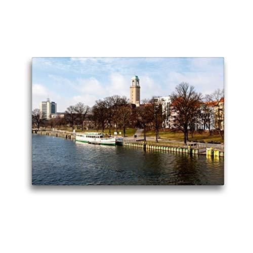Premium Textil-Leinwand 45 x 30 cm Quer-Format Dit is och Berlin: Hafen (Spandau) | Wandbild, HD-Bild auf Keilrahmen, Fertigbild auf hochwertigem Vlies, Leinwanddruck von Holger Much Photography