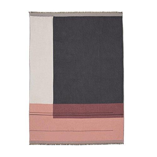 Ferm Living Color Block Throw - Rose 130x180cm