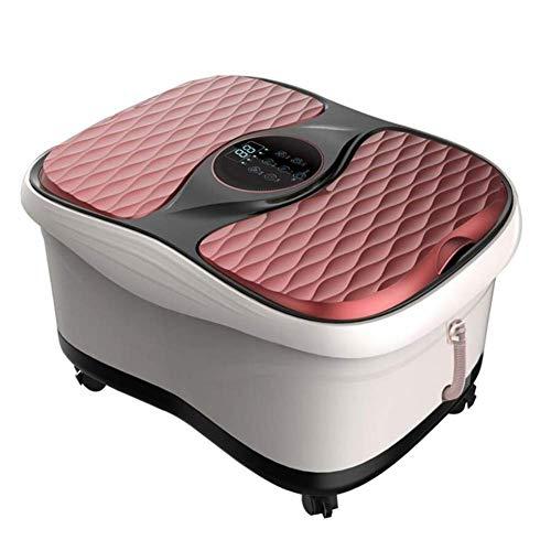 FAP Voetbad, automatische massage drinkbekken gezondheid diepe vat voetbad pedicure, dubbele barrel zwart rood, rood