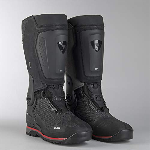 FBR036 - 1010-42 - Rev It Expedition OutDry Leather Motorcycle Boots 42 Black (UK 8)