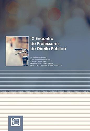 IX Encontro de Professores de Direito Público (Portuguese Edition)