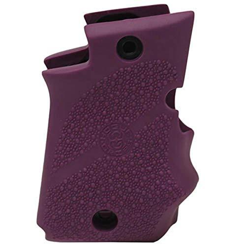 Hogue 98086 Sig P938 Rubber Grip, Ambidextrous, Finger Grooves, Purple