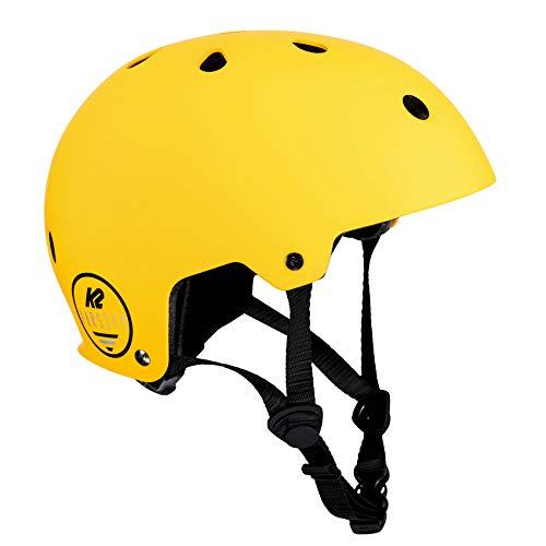 K2 Damen Herren Inline Skates Helm VARSITY - Gelb-Schwarz - L (59-61cm) - 30D4101.1.1.L