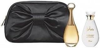 Christian Dior Jadore For Women 3 Piece Set ( 3.4 Ounce Eau De Parfum + 2.5 Ounce Beautifying Body Milk + 5 Ml Mini)