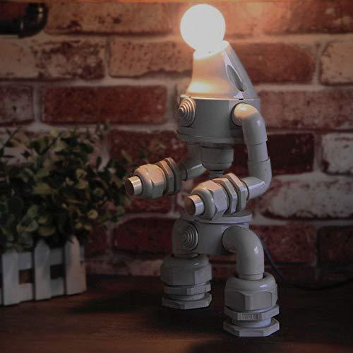 FHUA Lámpara Escritorio Lámpara lámpara Oficina Retro Robot Tubo Industrial Viento Personalidad Barra decoración Hostel Cama Regalos creativos lámpara LED (18 * 13 * 30 cm)