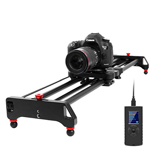 "GVM Motorized Camera Slider Time Lapse and Video Shot, with Remote Controller, 120 Degree Panoramic Shooting 31"" 80cm, Track Dolly Sliders Rail System with Motorized"