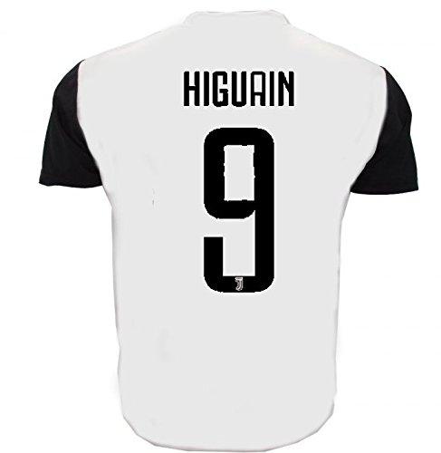 Maglia HIGUAIN Juventus Replica Ufficiale 2017-18 Bambino Uomo Adulto Juve Home (cm:Spalle 36,Torace 40,lungh.47-Anni 4)