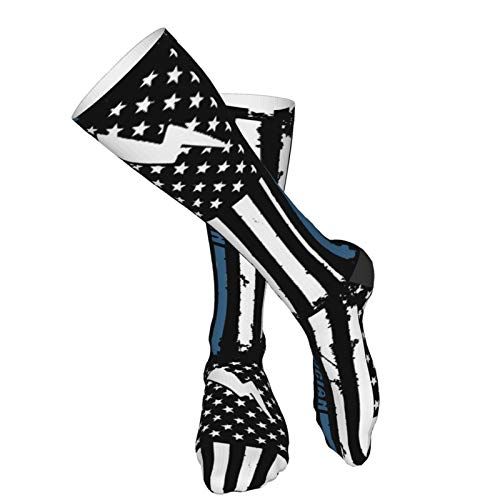Product Image 5: Crew Socks Calf Socks Electrician With American Flag Casual Athletic Warm Thick Moisture Wicking Breathable for Men Sock
