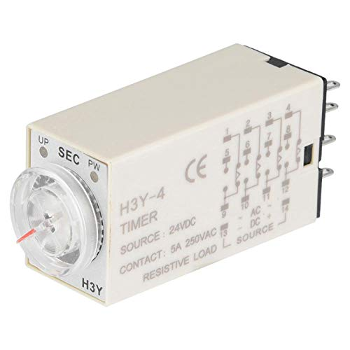 Relé de tiempo H3Y-4, temporizador de retardo, retardo de electricidad, puntero de control, retardo, fuerte antiinterferencias, 14 pines para control remoto, control remoto(30S)