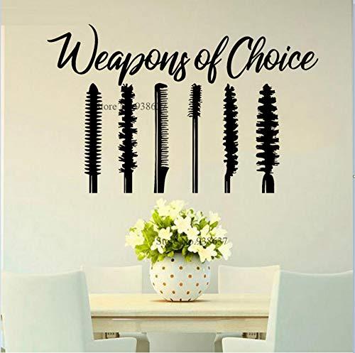 Wimperntusche Design Cool Girl's Room Grooming Kosmetik Fall Decor Beauty Salon Aufkleber Beliebte...