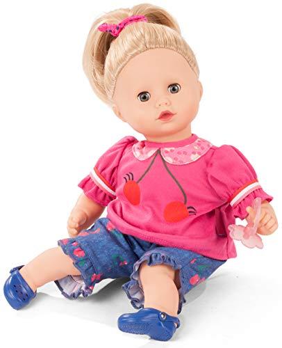 Götz 2020940 Muffin Cherry Kiss Puppe - 33 cm große Babypuppe mit blauen Schlafaugen, Blonde Haare und Weichkörper - Weichkörperpuppe in 7-teiligen Set