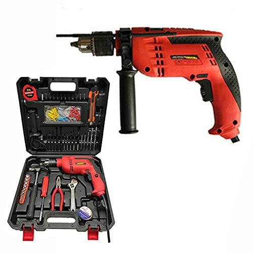 Electric Corded Impact Hammer Drill Hamer Drill 650W with 104 Piece Power Tools Combo Kit