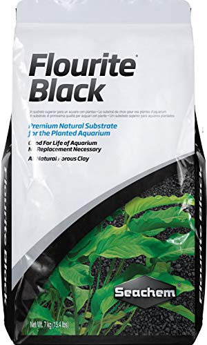Seachem Flourite Black Clay Gravel - Stable Porous Natural Planted Aquarium Substrate 15.4 lbs