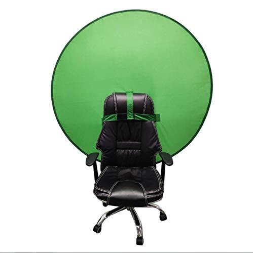Pantalla de fondo verde portátil de 142 cm para estudio de fotografía y vídeo de estudio Chroma Key Green, retroiluminación verde portátil para silla