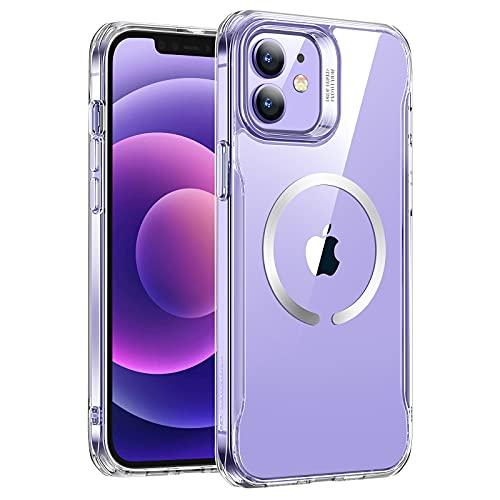ESR Sidekick Hybrid Hülle Kompatibel mit iPhone 12/12 Pro 2020 Transparent Hülle mit HaloLock Magnetischem Kabellosem Laden Klar