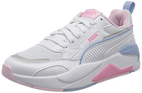 PUMA X-Ray 2 Square Jr Sneaker Unisex Bambino, Bianco (Puma Bianca Rosa Lady Forever Blu), 38.5 EU