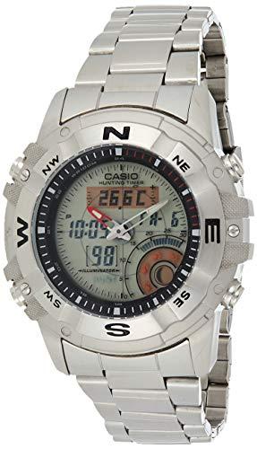 Casio Heren Jacht Timer AMW704D-7AV Zilver roestvrij staal Quartz Horloge met Blauwe Wijzerplaat