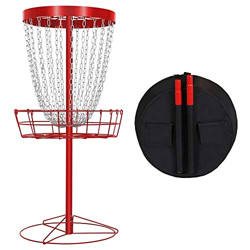 YAHEETECH Practice 24-Chain Portable Disc Golf Basket Target and...