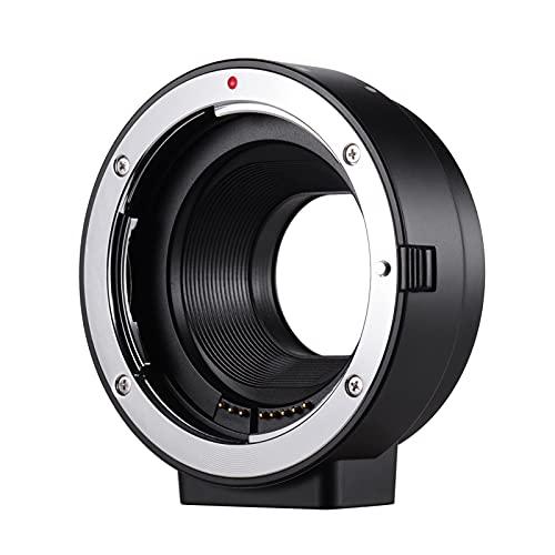 Staright Adaptador de Montaje de Lente de Enfoque automático Reemplazo del Tubo de extensión del Anillo para la Lente Canon EF EF-S a Las cámaras Canon EOS M2 M3 M5 M6 M10 M50 M100 M-Mount