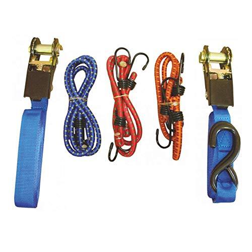 Set met 2 spanbanden + 6 gespen, hanger en bevestiging van zware lasten.