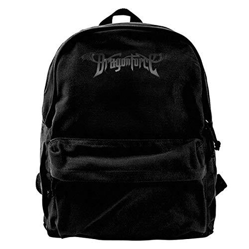 Mochila de viaje de lona casual de moda Dragonforce mochila de viaje con patrón de lona para la escuela, unisex para portátil al aire libre