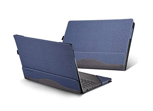 HP Spectre x360 13t Touch (Released in 2019) 13.3' 2 in 1 Laptop Case Cover,PU Leather Folio Stand Protective Hard Shell Case Compatible with HP Spectre x360 13-AWxxx 13 Inch Series,Blue