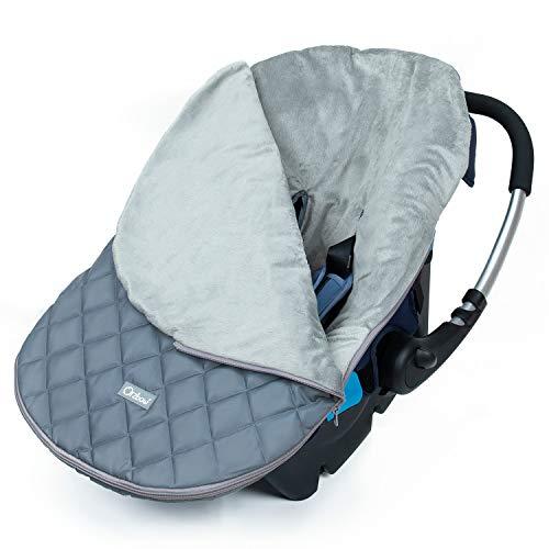 Orzbow Saco Capazo Bebe Universal,Mantas para Bebes Recien Nacidos,Saco de Dormir Invierno para Niñas o Niños de 0 a 12 Meses (gris Claro)