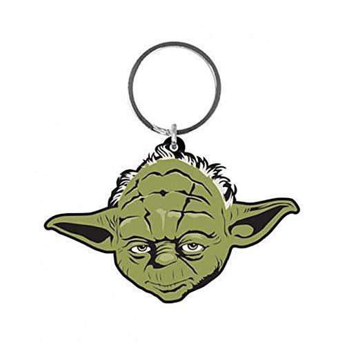 Genuine Star Wars Yoda Jedi Master Rubber Keyring Key Fob Lucasfilm