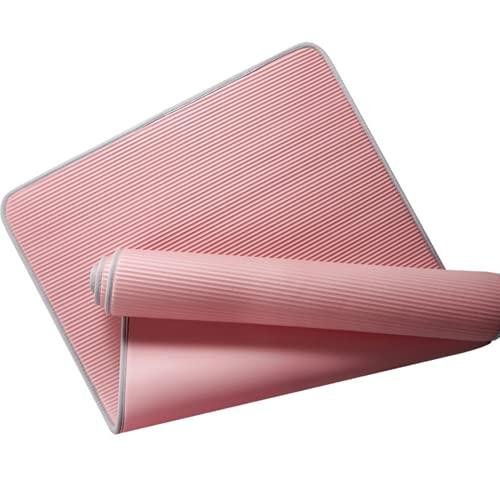 DYHDW Esterilla de yoga enrollada de alta densidad que se ensancha, antideslizante, esterilla de yoga, muy suave y cómoda, color rosa, 185 x 90 x 1