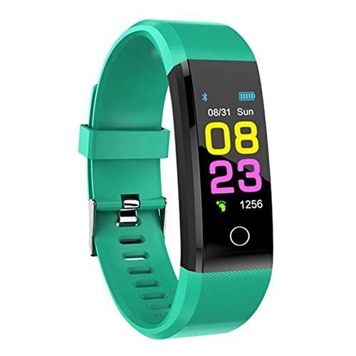 Nuovo Smart Watch Uomo Donna Cardiofrequenzimetro Tracker fitness pressione sanguigna Smartwatch Sport Watch per IOS Android, verde