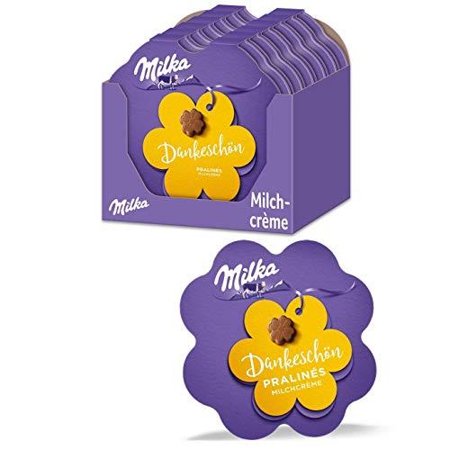 Milka Kleines Dankeschön Pralinen 12 x 44g, Feine Pralinés aus Milchcrème umhüllt von Alpenmilch Schokolade