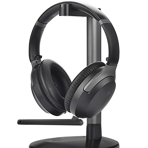 Avantree Aria Podio Wireless Over Ear Headphones with Charging Dock Base, Bluetooth 5.0 ANC Headset Boom Microphone for Meeting Teams, Home Office Online Class or Work on PC Phone Computer Laptop