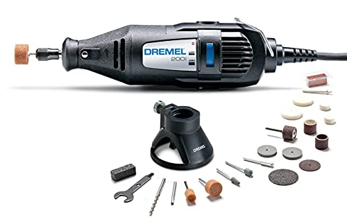 Dremel 200-1/21 Two-Speed Mini Rotary Tool Kit with 21 Accessories- Hobby Drill, Woodworking Carving Tool, Glass Etcher, Small Pen Sander, Garden Tool Sharpener, Craft and Jewelry Drill