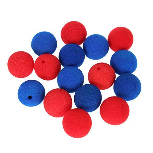 Toyvian 40 Piezas Narices de Payaso Divertidas Narices de Disfraces de Circo Accesorios de Fiesta Esponja de Espuma Narices de Payaso de Carnaval para Disfraces de Fiesta de Circo (Rojo + Azul)