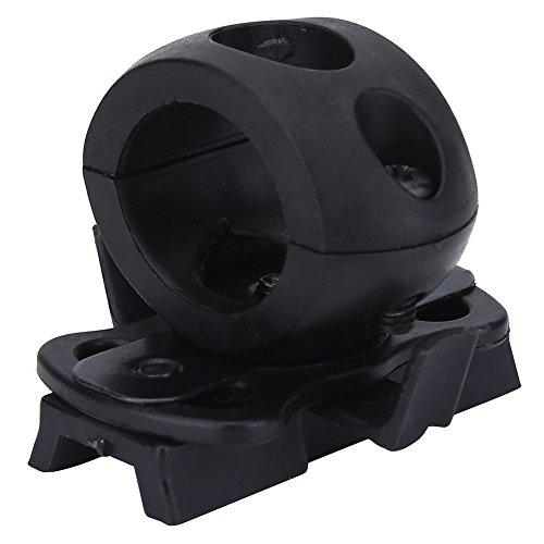 Abrazadera de Linterna Casco Soporte de Montaje para Casco ( Color : Negro )