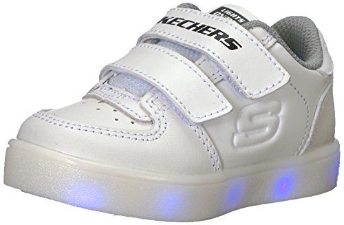 Skechers Baby-Jungen Energy Lights Sneaker, Weiß (White), 21 EU