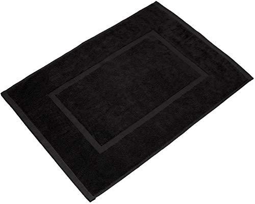 valneo Tapis de Bain Noir(50 x 70 cm) de qualité supérieure à 800 g/m²