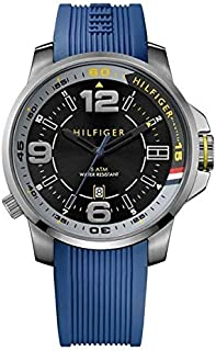 Tommy Hilfiger Brandon Men's Black Dial Silicone Band Watch [1791010]